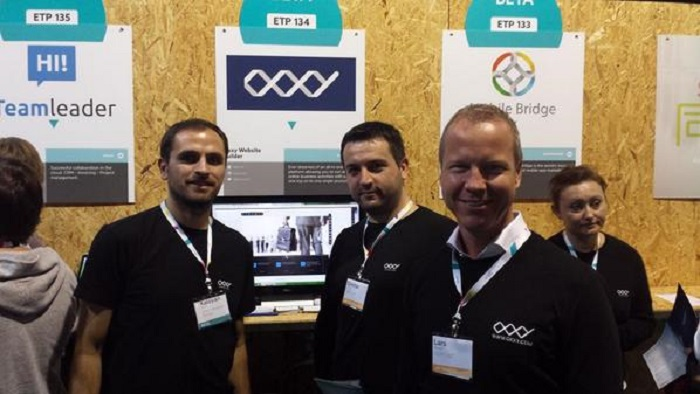 oxxy's team at the websummit 2014