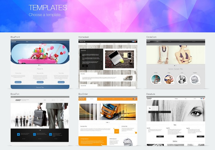 Choose the best template for your website