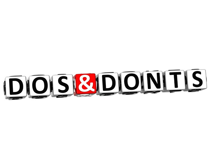 dos and donts
