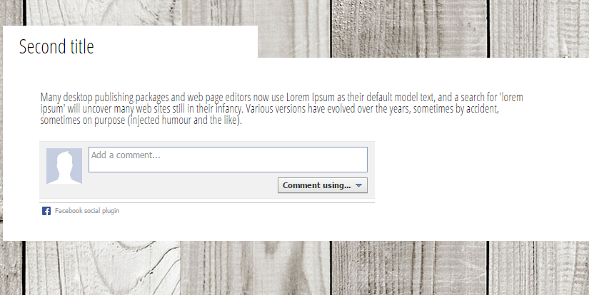 Add Facebook comments to make your website more social media friendly