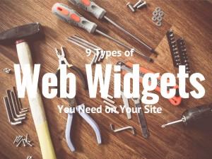 web widgets