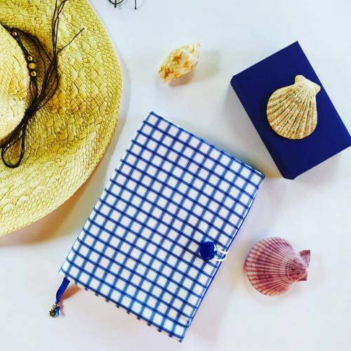 Подвързия за книга или планер Синьо райе