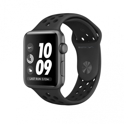 SPACE GRAY ALUMINUM ANTHRACITE/BLACK NIKE SPORT 38MM