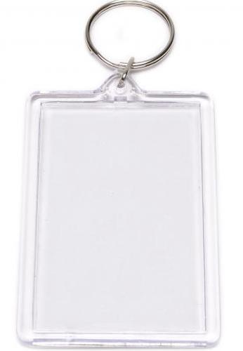 Пластмасов двустранен ключодържател с ваша снимка или надпис  7.5/5.5 см