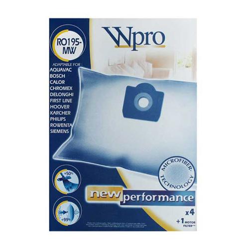 Микрофибърни торби за прахосмукачка 4 бр. + 1 бр. филтър